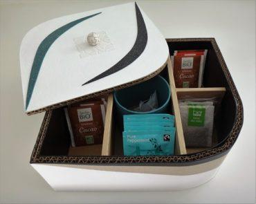 Boite à thé en carton original 7 compartiments