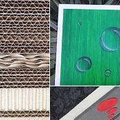 meuble en carton décoration peinture
