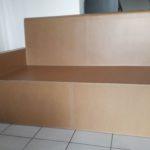 KRL Commande sur mesure : canapé en carton